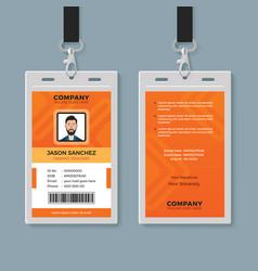 Creative multipurpose identity card template vector