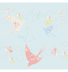 cute swallow pattern vector image