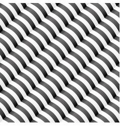diagonal wavy stripped seamless pattern vector image