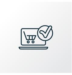 E-commerce solution icon line symbol premium vector