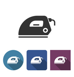 electric iron icon in different variants with vector image