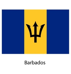 Flag of the country barbados vector