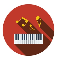 Flat design icon of piano keyboard in ui colors vector