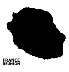Flat map reunion island with name vector