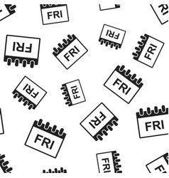 Friday calendar page seamless pattern background vector