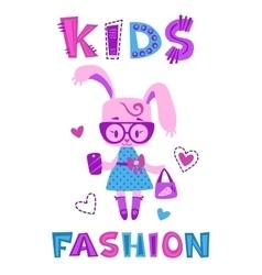 Funny fashion kids vector