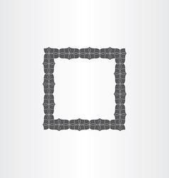 Gray decorative square frame vector
