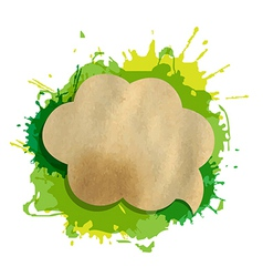 Green Grunge Blob With Speech Bubble vector