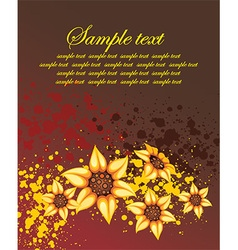 Grunge Floral Background with a Text Space vector image