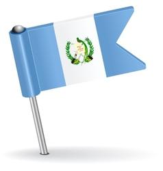 Guatemala pin icon flag vector image