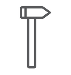 hammer line icon tool and repair construction vector image