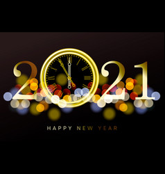 happy new year 2021 - new year shining background vector image