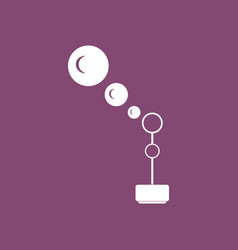Icon on background bubble stick vector