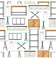 Interior and furniture pattern shelving vector