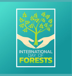 International day of forests logo icon design vector