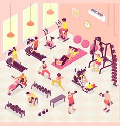 isometric fitness vector image