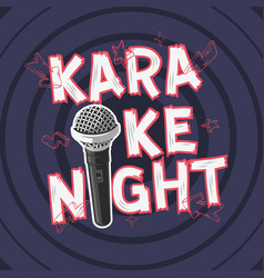 karaoke night party music design with a microphone vector image