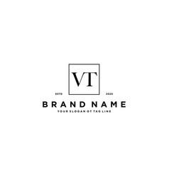 Letter vt logo design vector