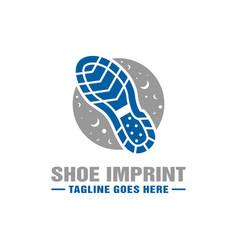Logo design boot imprint vector