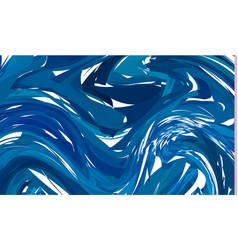 luxury blue marble background with swirls vector image