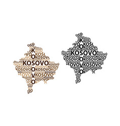 map of kosovo vector image
