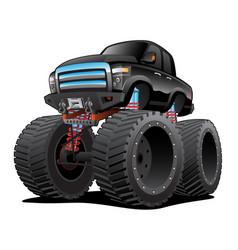 Monster pickup truck cartoon vector