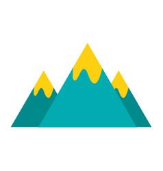 mountains peak on white background vector image