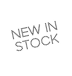 New in stock rubber stamp vector