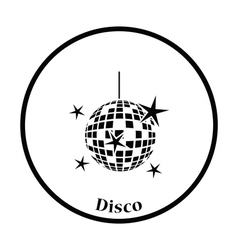 Night clubs disco sphere icon vector image