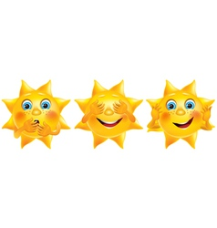 Not see not hear not say funny sun vector image
