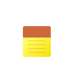 notepad icon flat blank spiral notepad vector image