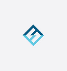 number 5 blue letter s logo symbol vector image
