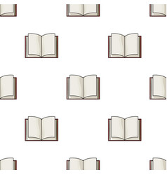Opened book icon in cartoon style isolated on vector