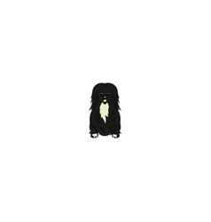 pekingese cartoon dog icon vector image