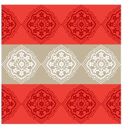 Persian Seamless Red Floral Pattern Design vector image