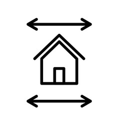 real estate blueprint icon vector image