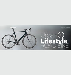 Realistic road bike vector