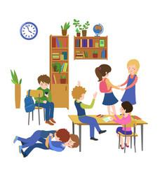School class behavior vector
