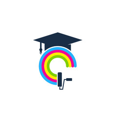 school paint logo icon design vector image