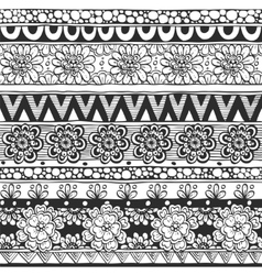 Seamless ornament from flowers and floral elements vector image