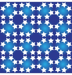 Seamless pattern of white stars vector
