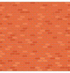 Seamless red brick wall vector image