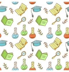 Seamless school pattern vector