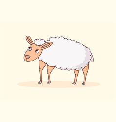 sheep animal cartoon vector image