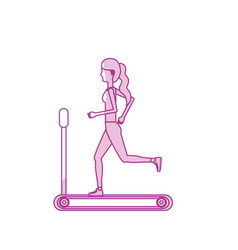 Silhouette healthy woman doing exercise in the vector