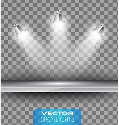 spotlights scene with different source lights vector image