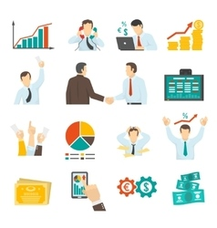 Stock Market Set vector image