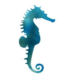 Styled seahorse vector