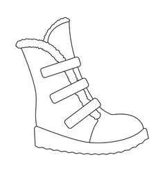 tall winter boots made of wool with velcro shoes vector image