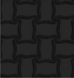 Textured black plastic spool shape grid vector